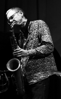Henrik Frisk, saxophonist, photo by Karl-Martin Almqvist.